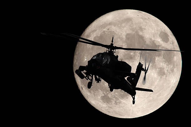 Apache in the Moonlight stock photo