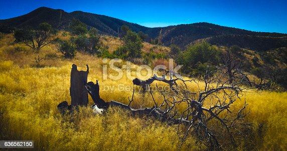 View of Apache of apache peak looking west. Santa Catalina Foothills.