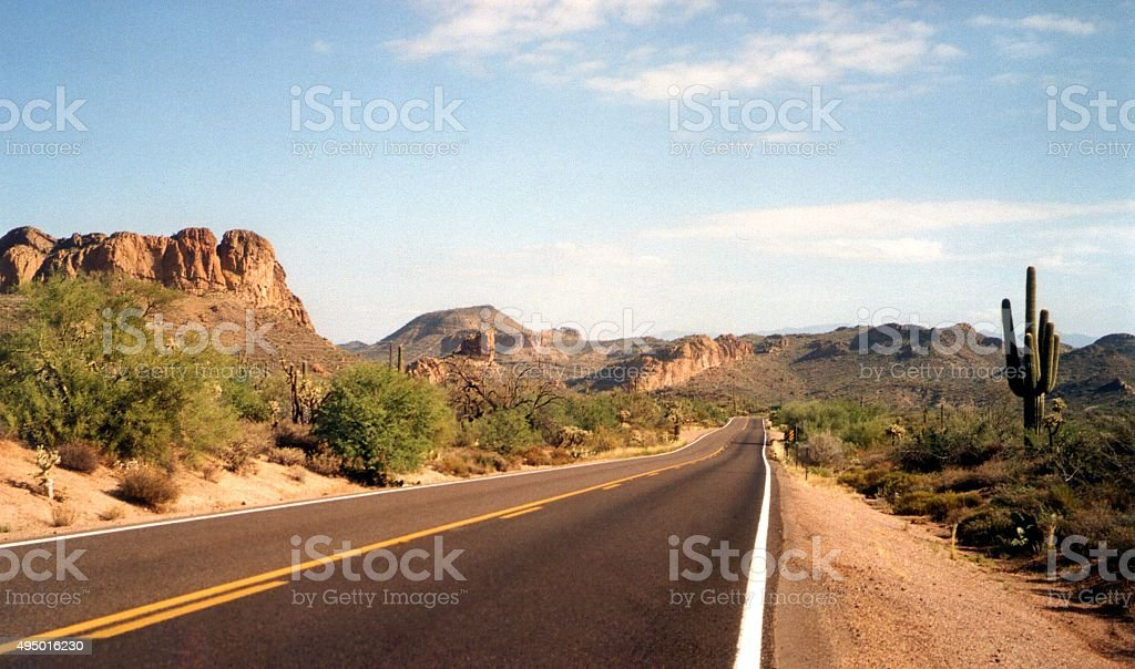 Apache Trail scenic drive, Arizona stock photo