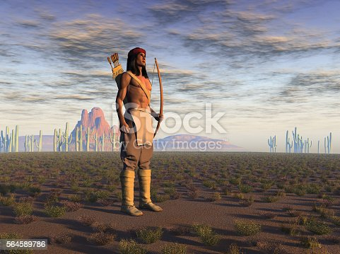 istock Apache warrior 564589786