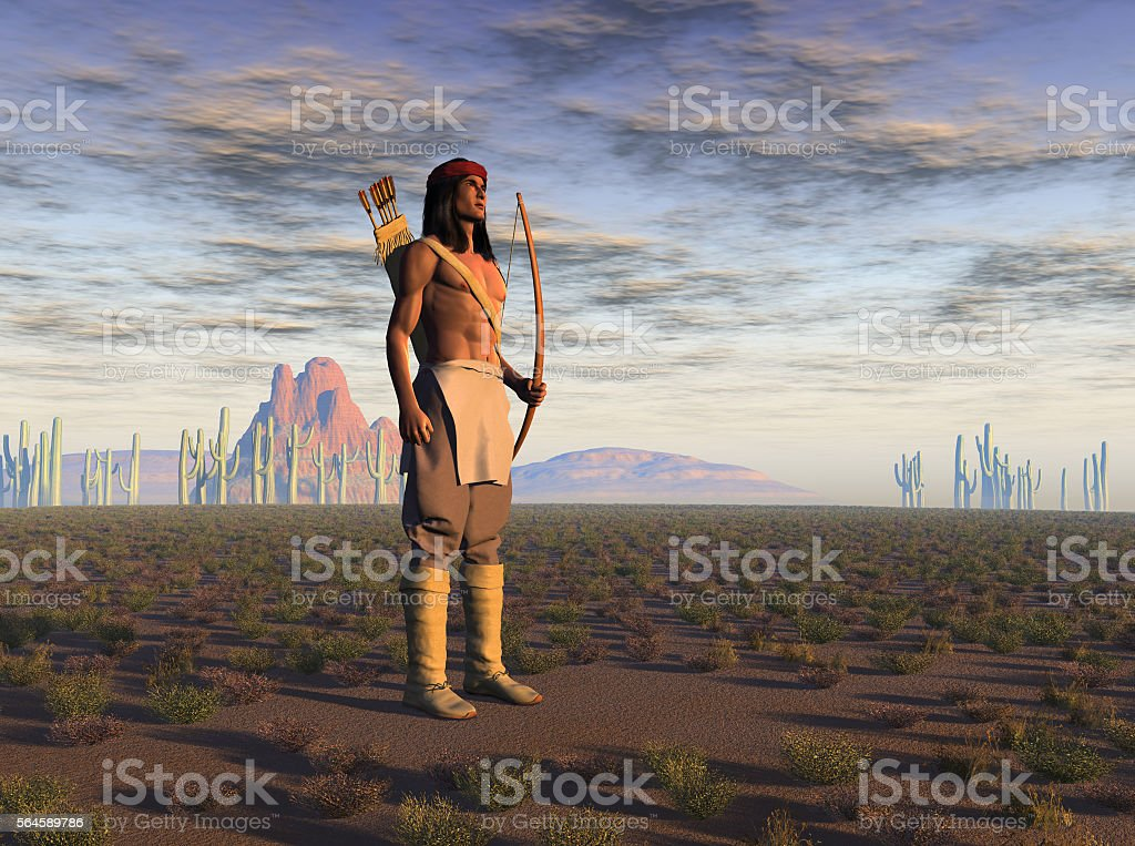 Apache warrior stock photo