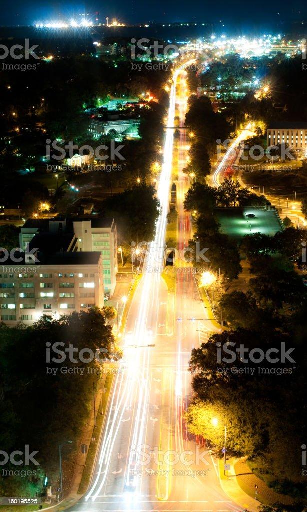Apalachee Parkway at Night royalty-free stock photo