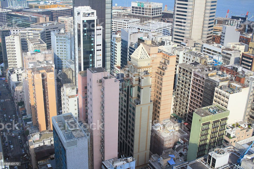 Apartement building in Tsim Sha Tsui stock photo