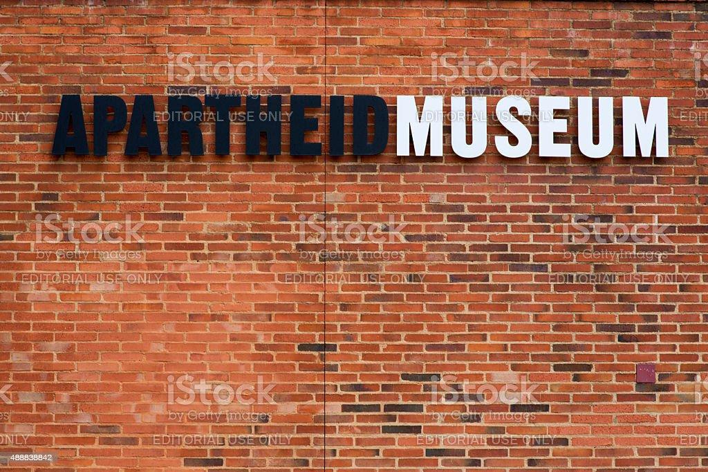 Apartheid Museum, Johannesburg stock photo