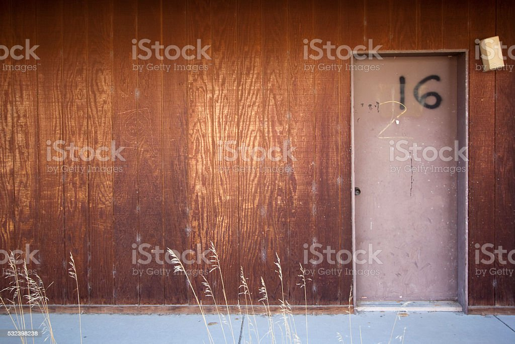 Apartment 16 door stock photo