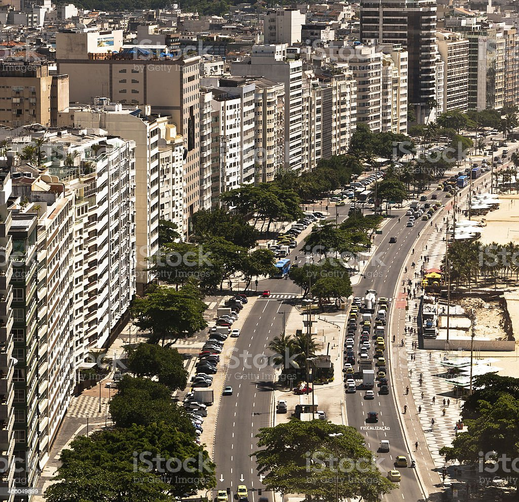 Apartment and Hotel Buildings in Front of the Beach royalty-free stock photo