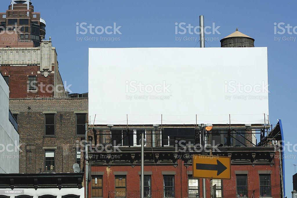 Apartment Billboard royalty-free stock photo