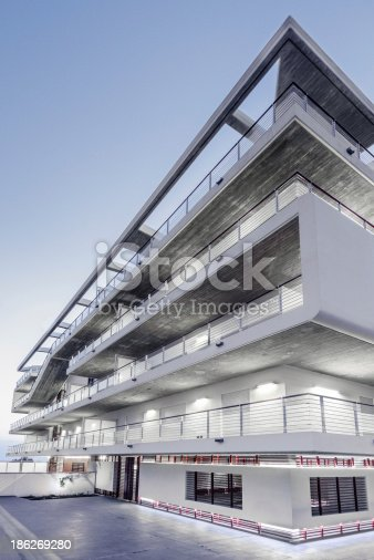 istock Apartment Block at Night 186269280