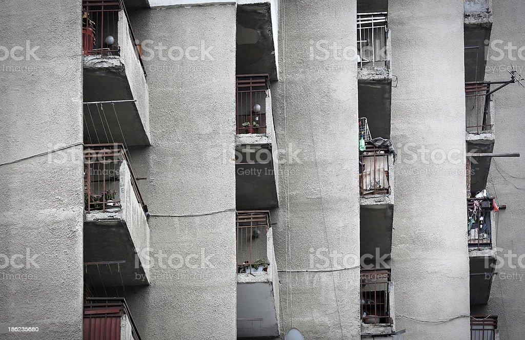 Apartment Block building in Sofia, Bulgaria royalty-free stock photo