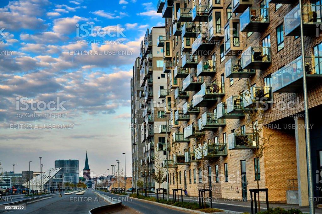 appartementengebouw in Arhus - Royalty-free Appartement Stockfoto