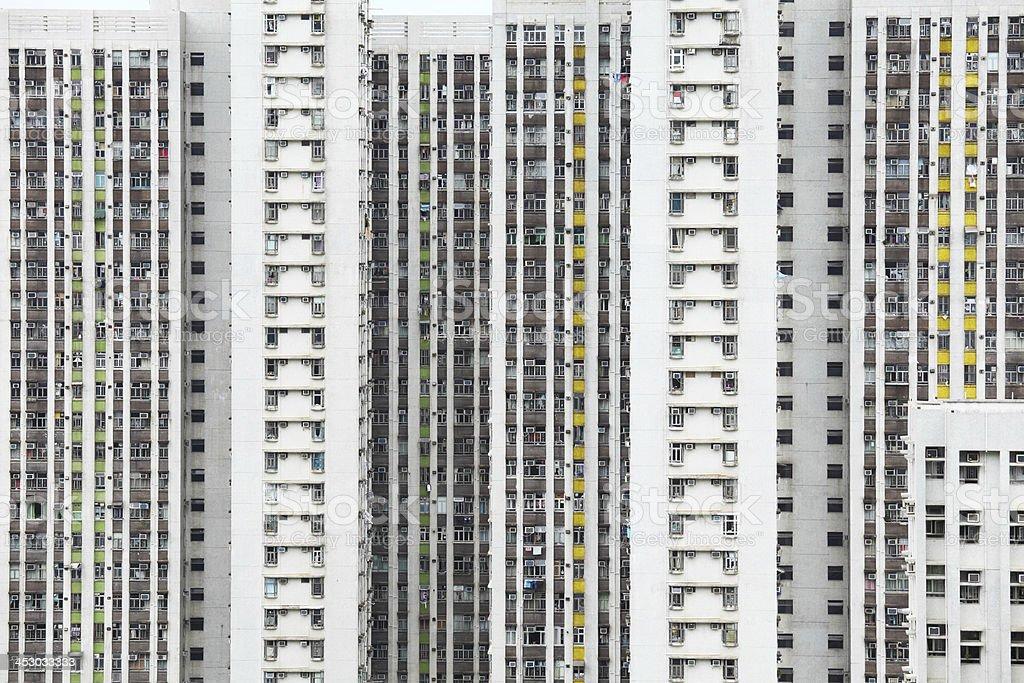Bloco de apartamentos em Hong Kong - foto de acervo