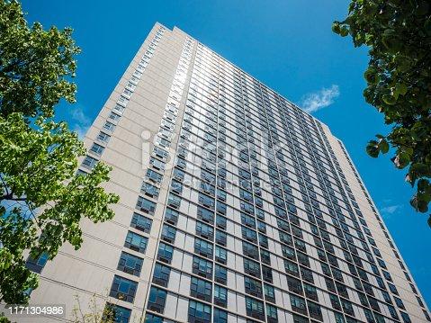 A high apartment block in Lower Manhattan, New York City