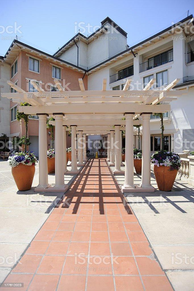 Apartment Block Monterey California stock photo