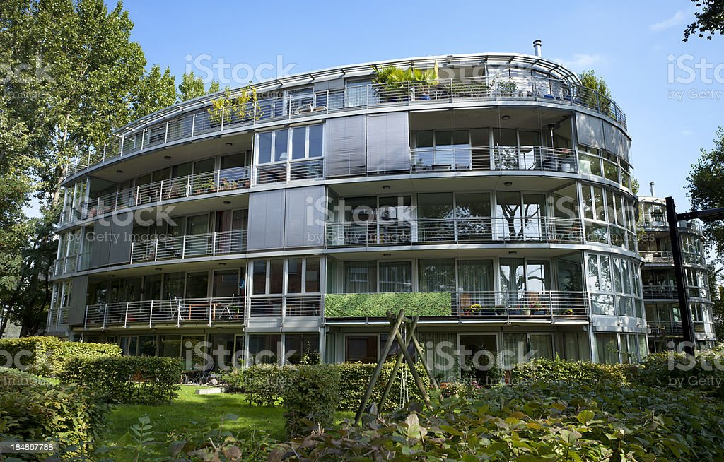 Apartment Block with garden royalty-free stock photo