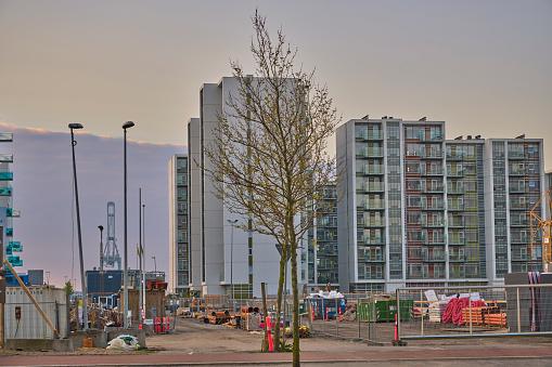 Flatgebouwen In Arhus Aan Einde Van Dagmar Petersens Gade Stockfoto en meer beelden van Appartement