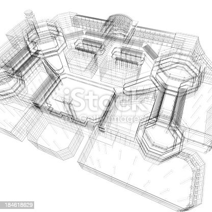 istock Apartment Blueprint 184618629