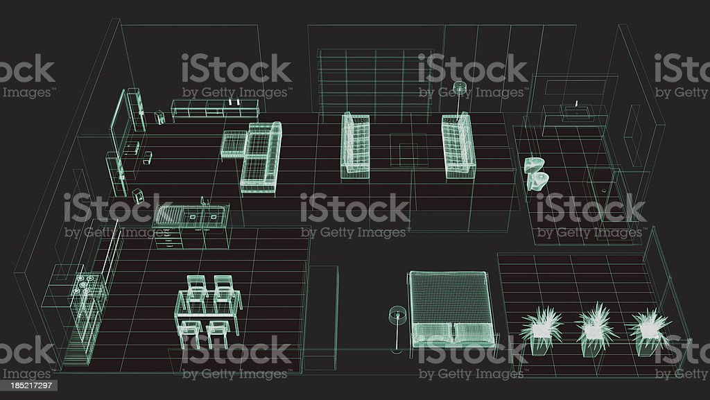 Apartment Technische Zeichnung Stockfoto und mehr Bilder von ...