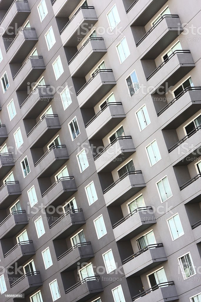 Apartment Building Balcony Architecture Facade royalty-free stock photo