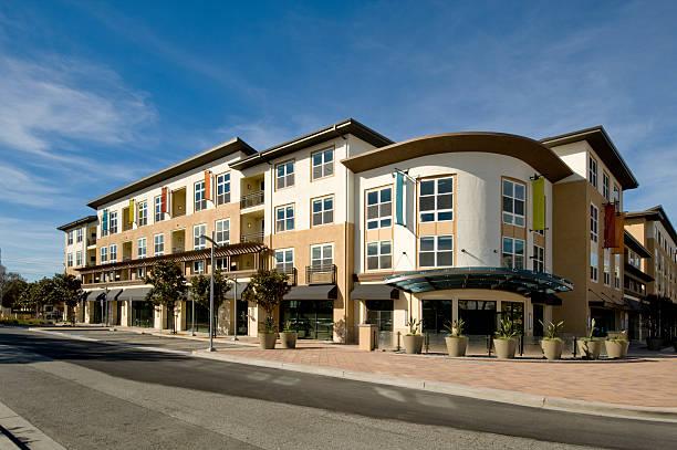 Apartment Building, California stock photo
