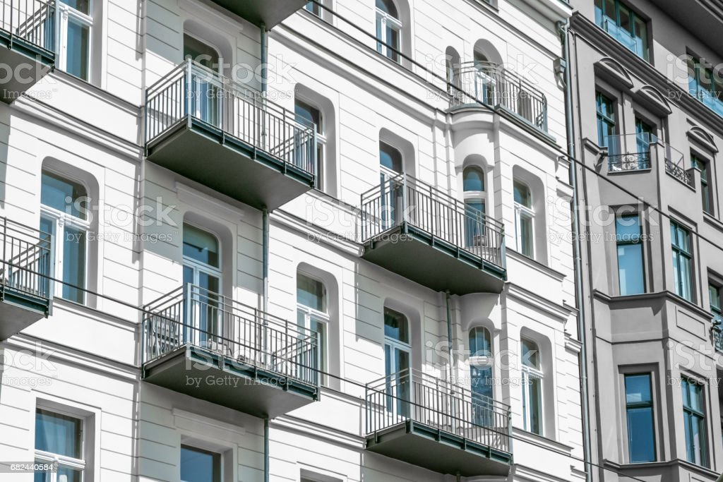 apartment building facade Berlin, royalty-free stock photo