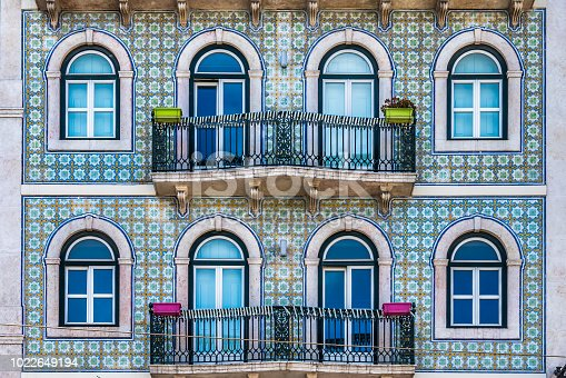 Apartment building facade in Lisbon