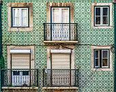 Apartment building facade in Lisbon