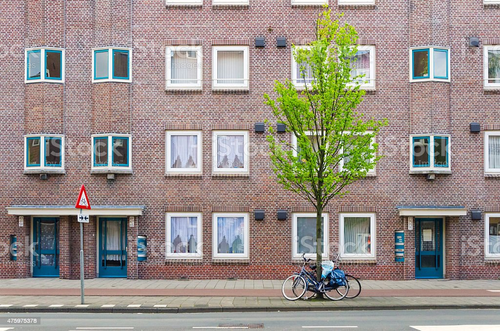 Apartment Building in Amsterdam stock photo