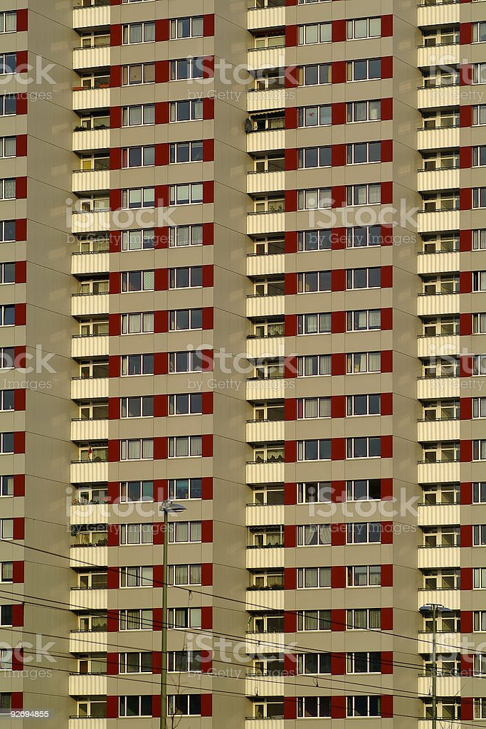 Apartment building in Berlin royalty-free stock photo