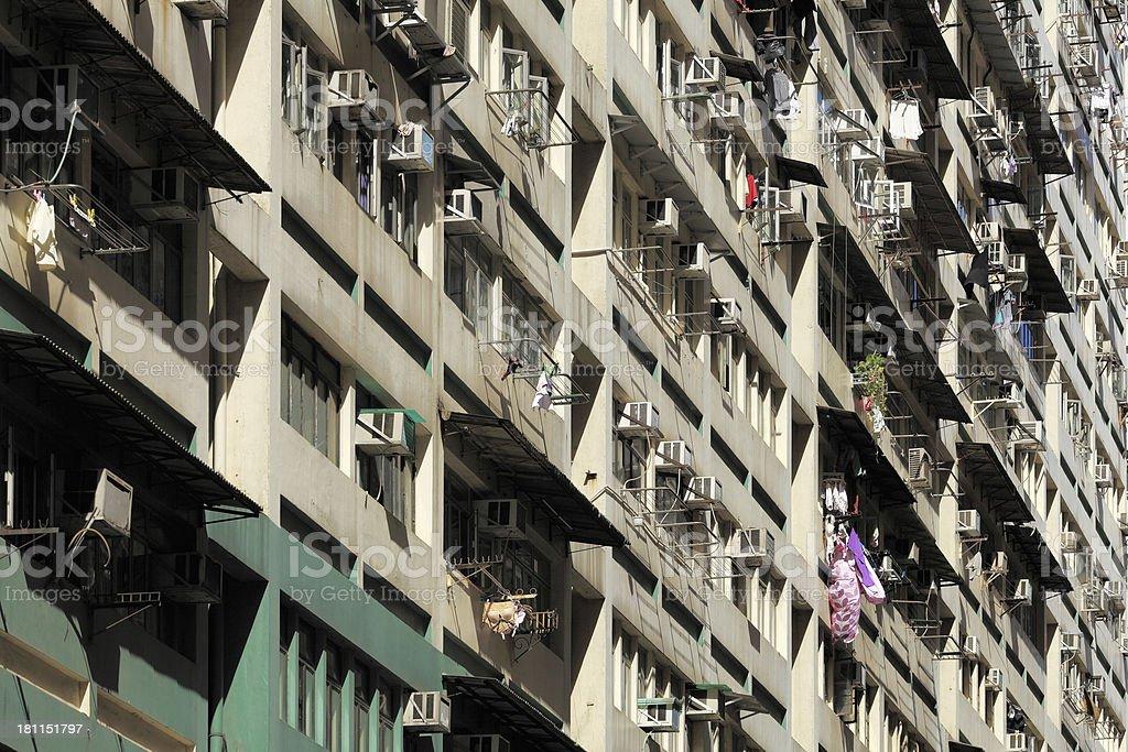 Apartment Building in Hong Kong royalty-free stock photo