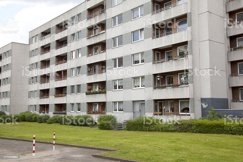 Apartment building in Kiel, Germany stock photo
