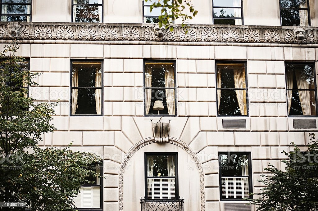 Apartment Building in Manhattan royalty-free stock photo