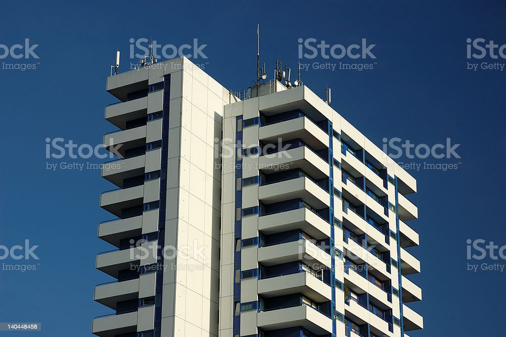 Apartment Building in the City royalty-free stock photo