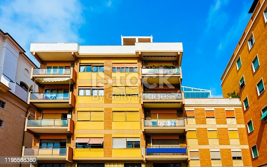 493502515 istock photo Apartment building Modern residential complex in new house in Italy reflex 1195568360