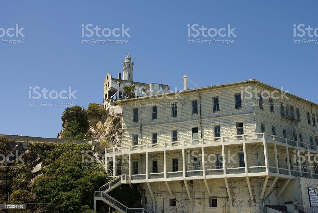 Apartment Building on Alcatraz Island, San Francisco royalty-free stock photo