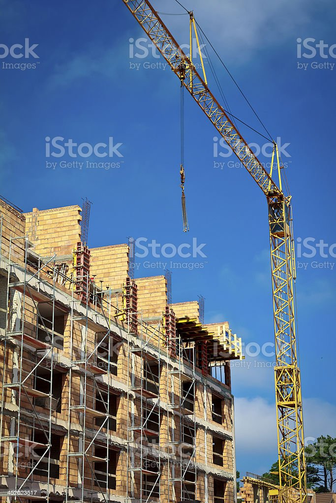 Apartment building under construction royalty-free stock photo