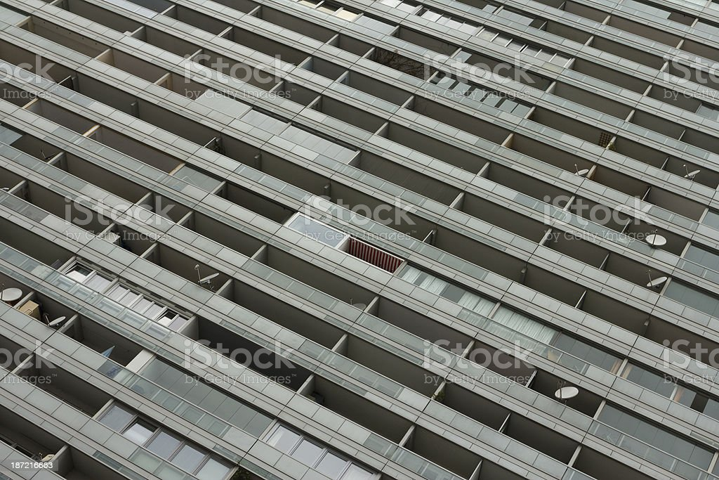 Apartment building Vienna royalty-free stock photo