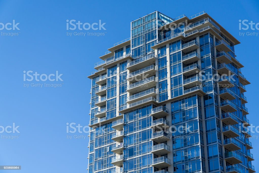 Apartment Building with Sky stock photo