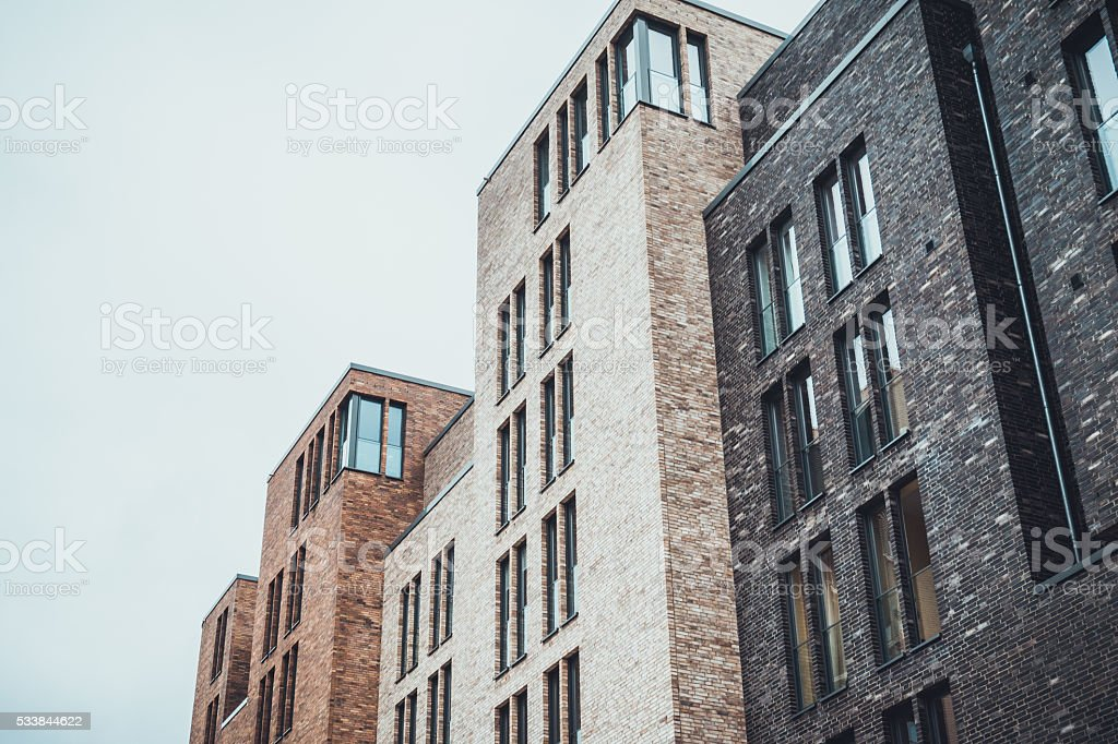 Apartment Building With Tall Thin Windows Royalty Free Stock Photo