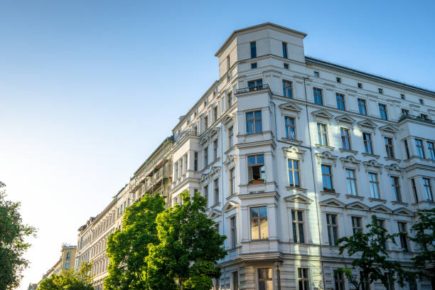 Apartment buildings in Berlin, Germany stock photo