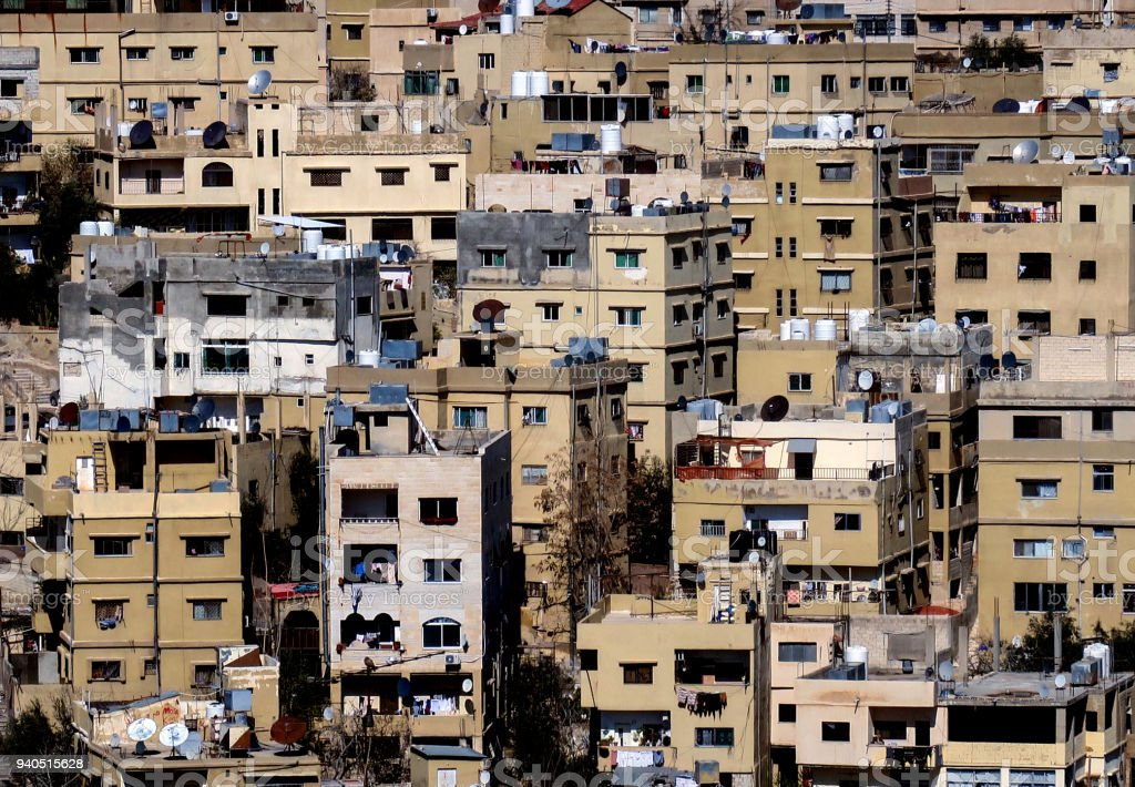 Apartment Buildings In Downtown Amman Jordan Stock Photo