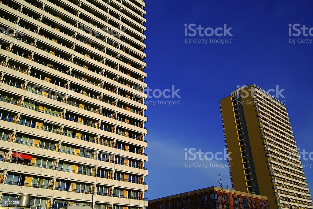 apartment buildings in east berlin royalty-free stock photo