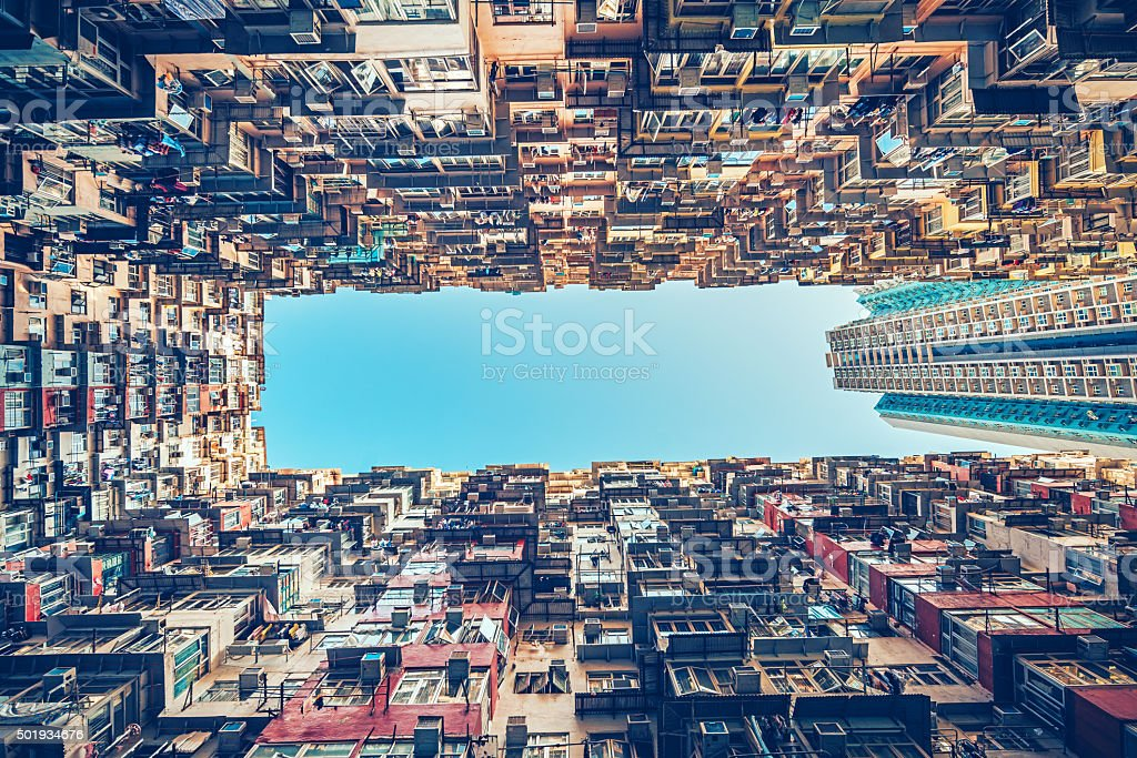 apartment buildings in Hong Kong, China stock photo