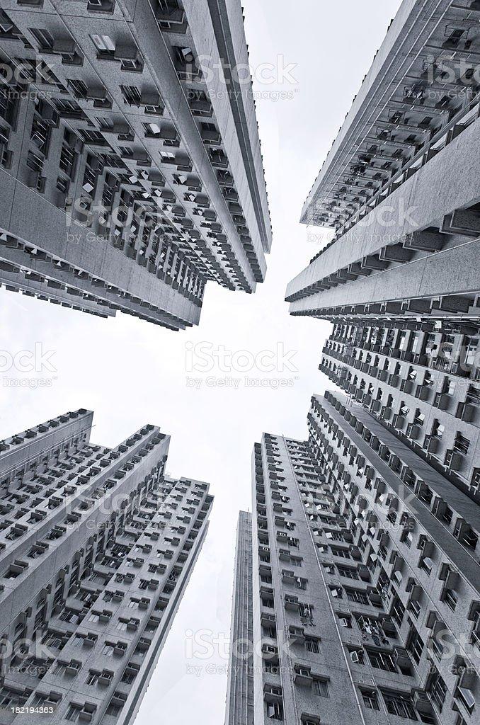 apartment buildings in Hong Kong royalty-free stock photo