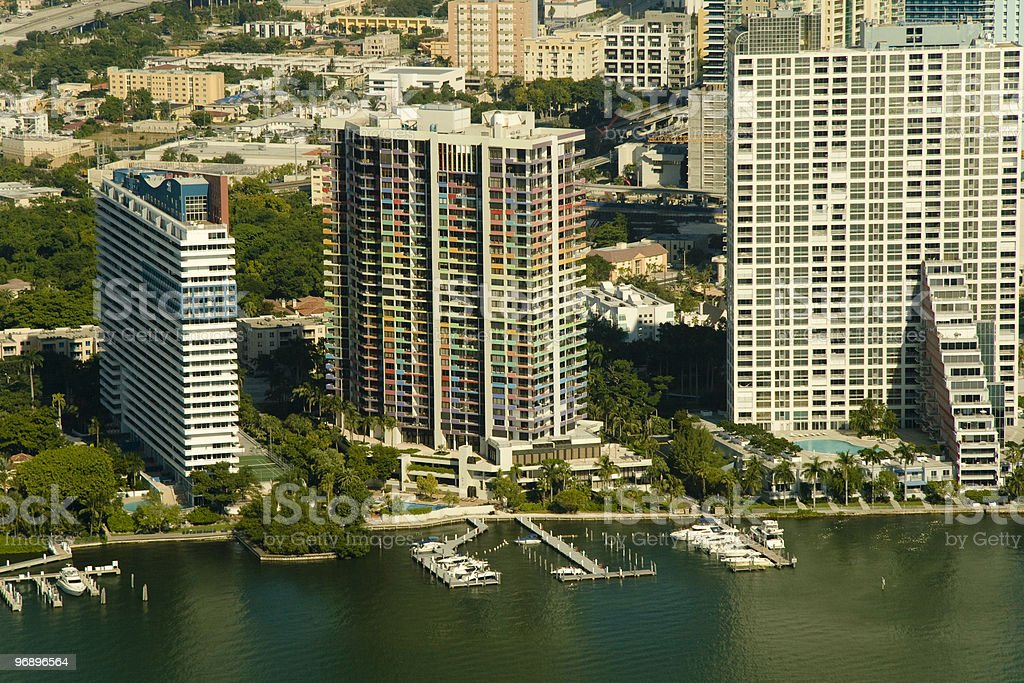Apartment buildings in Miami royalty-free stock photo