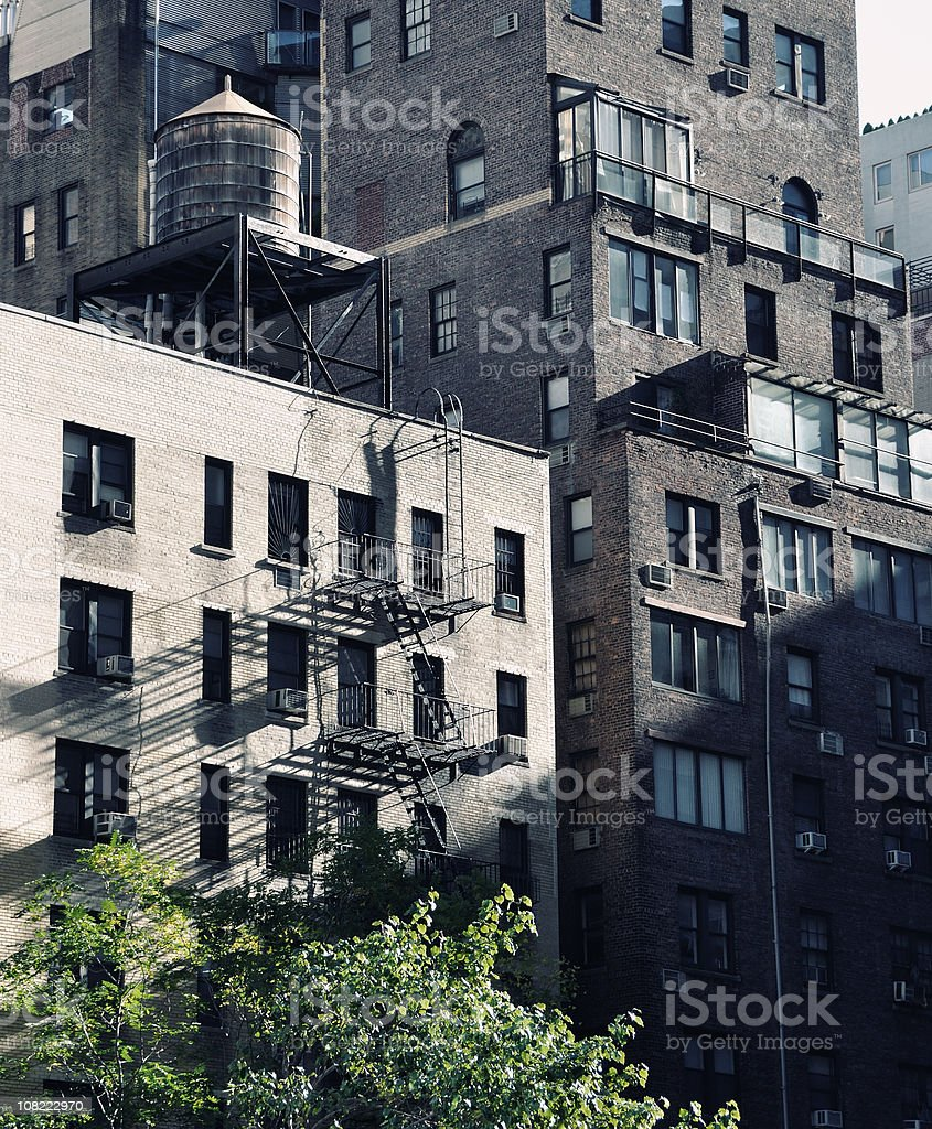 Apartment Buildings in New York City royalty-free stock photo