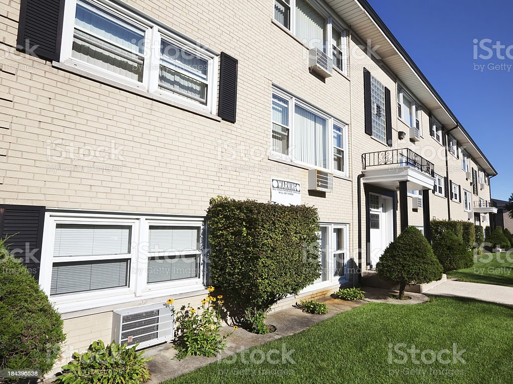 Apartment buildings in OHare, Chicago royalty-free stock photo