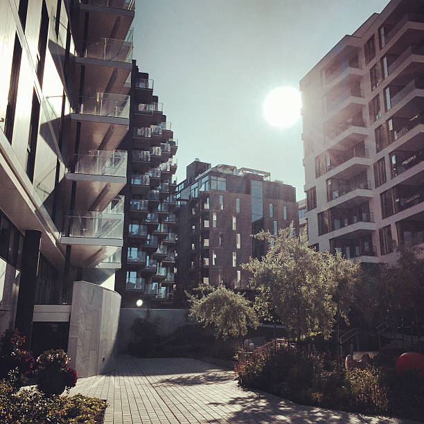 Apartment Buildings in Oslo, Norway stock photo