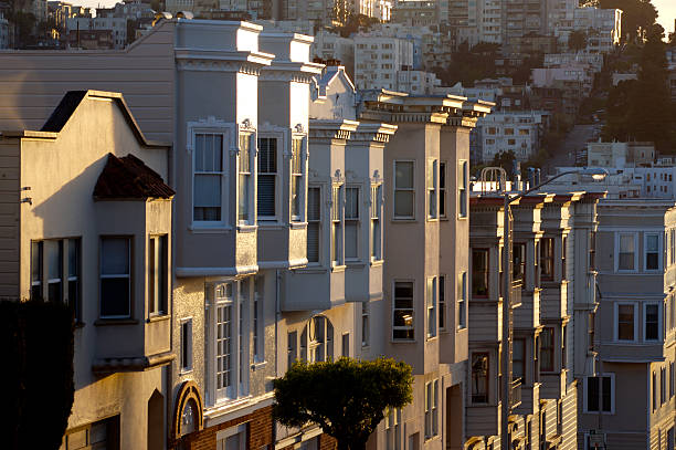 Apartment Buildings In S.F. stock photo