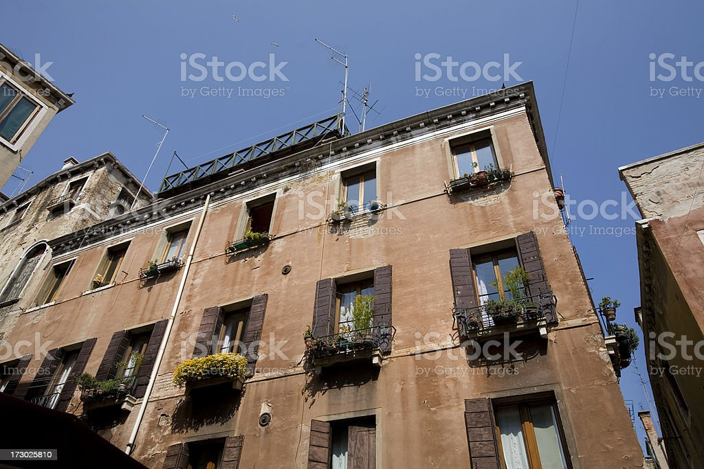 Apartment Buildings in Venice Italy royalty-free stock photo