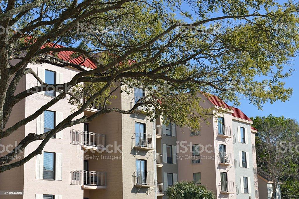Apartment buildings on Hilton Head Island royalty-free stock photo